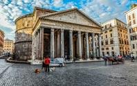 pantheon & trevi fountain image